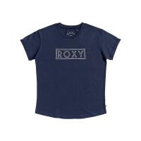 Roxy EPIC AFTERNOON WORD MOOD INDIGO dámské tričko s krátkým rukávem - S