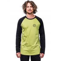 Horsefeathers VALE linden green pánské tričko s dlouhým rukávem - S
