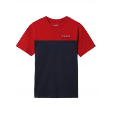 Vans VICTORY COLORBLOCK CHILI PEPPER/DRESS BLUES dětské tričko s krátkým rukávem - L