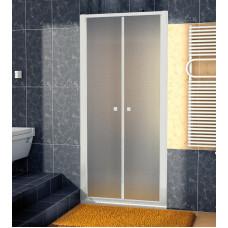 SanSwiss ECP2 0700 01 22 Dvoukřídlé dveře 70 cm, matný elox/durlux