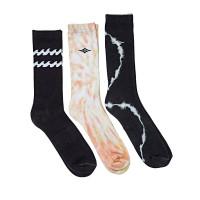 Billabong VIBES TIE DYE 3 PACK moderní barevné pánské ponožky