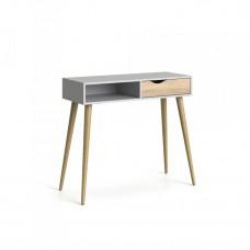 Retro psací stůl Oslo 75388 bílá/struktura dubu - TVI