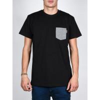 atrip ESJAN black pánské tričko s krátkým rukávem - L