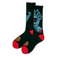 Santa Cruz Screaming Hand black moderní barevné pánské ponožky