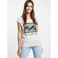 Billabong ALL NIGHT ASH HEATHER dámské tričko s krátkým rukávem - M