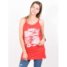 Picture Tide RED dámské bavlněné tílko - XS