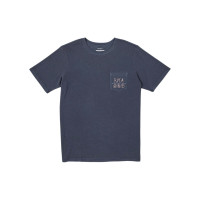 RVCA HORTON ANP MOODY BLUE pánské tričko s krátkým rukávem - M