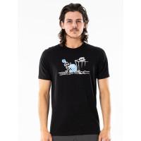 Rip Curl ENDLESS SEARCH black pánské tričko s krátkým rukávem - L