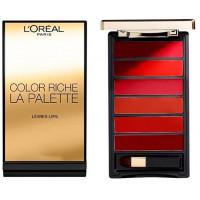 L'Oréal Paris Color Riche La Palette Lips 6x1g - Red