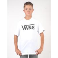 Vans CLASSIC white/black dětské tričko s krátkým rukávem - M