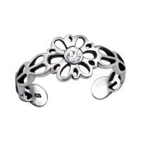 OLIVIE Stříbrný květinový prsten na nohu 4007