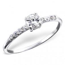 OLIVIE - stříbrný prsten 0207 Velikost prstenů: 8 (EU: 57 - 58)