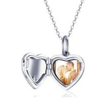 OLIVIE Stříbrný medailon SRDCE FOREVER 5089