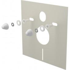 Tlumící izolační deska záv.WC,bidet, BÍLÉ krytky a průchodky, ALCAPLAST, čtverec 40x42 M930 (M930)