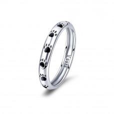 OLIVIE Stříbrný prsten TLAPKY 2889 Velikost prstenů: 9 (EU: 59 - 61)