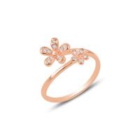 OLIVIE Stříbrný květinový prsten ROSE 3187