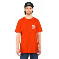 Horsefeathers MINI LOGO tomato red pánské tričko s krátkým rukávem - XL