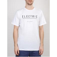 Electric CORPORATE IDENTITY white pánské tričko s krátkým rukávem - XL