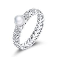 OLIVIE Stříbrný prsten s PERLOU 5131 Velikost prstenů: 7 (EU: 54-56)