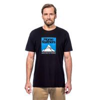 Horsefeathers LEX black pánské tričko s krátkým rukávem - XL