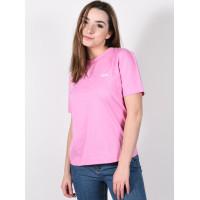 Vans JUNIOR V BOXY FUCHSIA PINK dámské tričko s krátkým rukávem - S