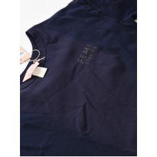 Femi Stories LOOSE NVY dámské tričko s krátkým rukávem - S