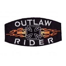 Nášivka - Outlaw Rider, 9,8 x 5cm - Motofanda 5487