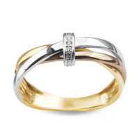 Zlato Zlatý dámský prsten 15193 Velikost prstenu: 53