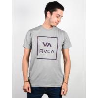 RVCA VA ALL THE WAY WARM GREY pánské tričko s krátkým rukávem - S