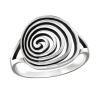 OLIVIE Stříbrný spirálový prsten 1020 Velikost prstenů: 6 (EU: 51 - 53)