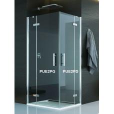 SanSwiss PUE2PG 075 10 07 Levý díl sprchového koutu 75 cm, chrom/sklo