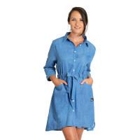 Horsefeathers CAIA LIGHT BLUE společenské šaty krátké - S