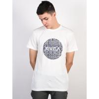 RVCA MOTORS ANTIQUE WHITE pánské tričko s krátkým rukávem - S