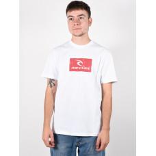 Rip Curl HALLMARK white pánské tričko s krátkým rukávem - M