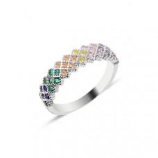 OLIVIE Stříbrný prsten COLORS 2869 Velikost prstenů: 9 (EU: 59 - 61)