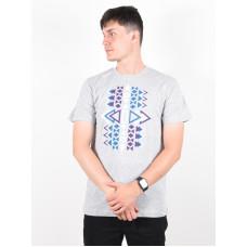 Picture End GREY MELANGE pánské tričko s krátkým rukávem - L
