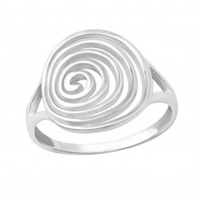 OLIVIE Stříbrný spirálový prsten 1992 Velikost prstenů: 6 (EU: 51 - 53)