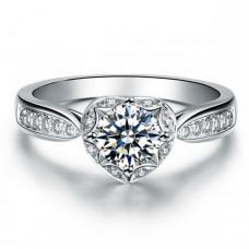 OLIVIE Stříbrný prsten SRDCE 2963 Velikost prstenů: 5 (EU: 47 - 50)