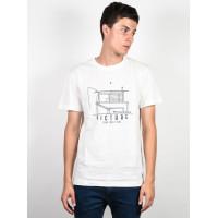 Picture Malibu white pánské tričko s krátkým rukávem - M