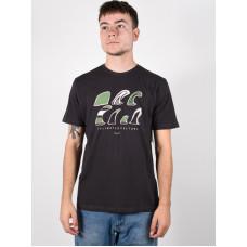 Rip Curl SWC FIN washed black pánské tričko s krátkým rukávem - XL