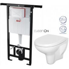 ALCAPLAST - SET Jádromodul - předstěnový instalační systém + WC CERSANIT ARTECO CLEANON + SEDÁTKO (AM102/1120 X AT1)