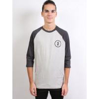 Electric VOLT TEAM RAGLAN HEATHER DARK pánské tričko s dlouhým rukávem - M