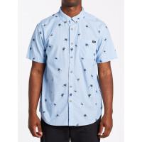 Billabong SUNDAYS MINI SKY BLUE pánská košile krátký rukáv - XL