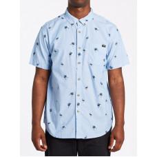 Billabong SUNDAYS MINI SKY BLUE pánská košile krátký rukáv - L