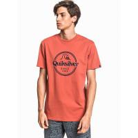 Quiksilver WORDS REMAIN REDWOOD pánské tričko s krátkým rukávem - XL