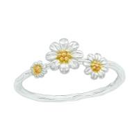 OLIVIE Stříbrný květinový prsten 4922 Velikost prstenů: 8 (EU: 57-58)