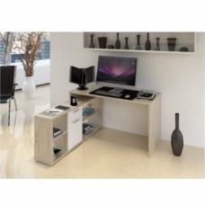 Rohový psací stůl NOE NEW san remo/bílá - TempoKondela