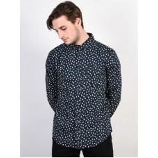 RVCA VU PRINT NEW NAVY pánská košile dlouhý rukáv - M