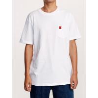 RVCA WICKS white pánské tričko s krátkým rukávem - M
