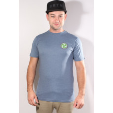 Burton THROWBACK BLUE MIRAGE HEATHER pánské tričko s krátkým rukávem - S